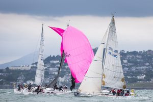 Thursday 9th July 2015, Dun Laoghaire, Co. Dublin: on the opening day of the Volvo Dun Laoghaire Regatta where a fleet of 409 boats are competing. Photograph: © David Branigan/Oceansport