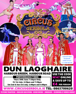 Dun Laoghaire Circus Gerbola flyer