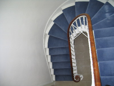 The original staircase looking down