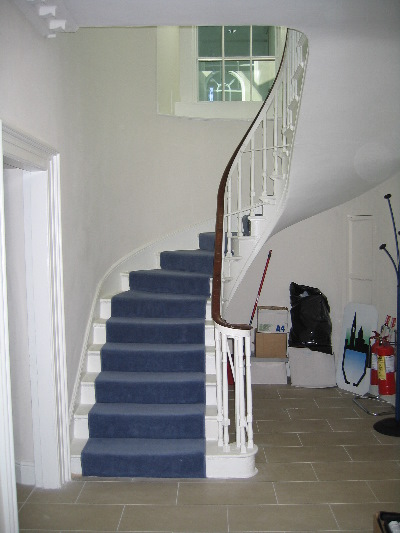 The original staircase looking up